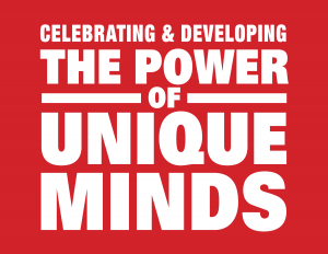 Power of Unique Minds Logo Red