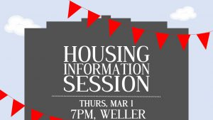 Housing Information Session @ Weller Center