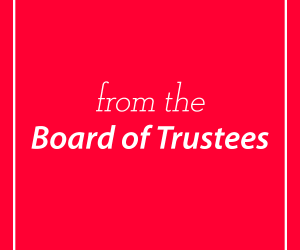 A Message from the Mitchell College Board of Trustees