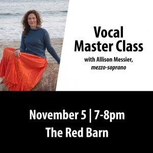 Vocal Master Class Nov 5,  7-8 PM